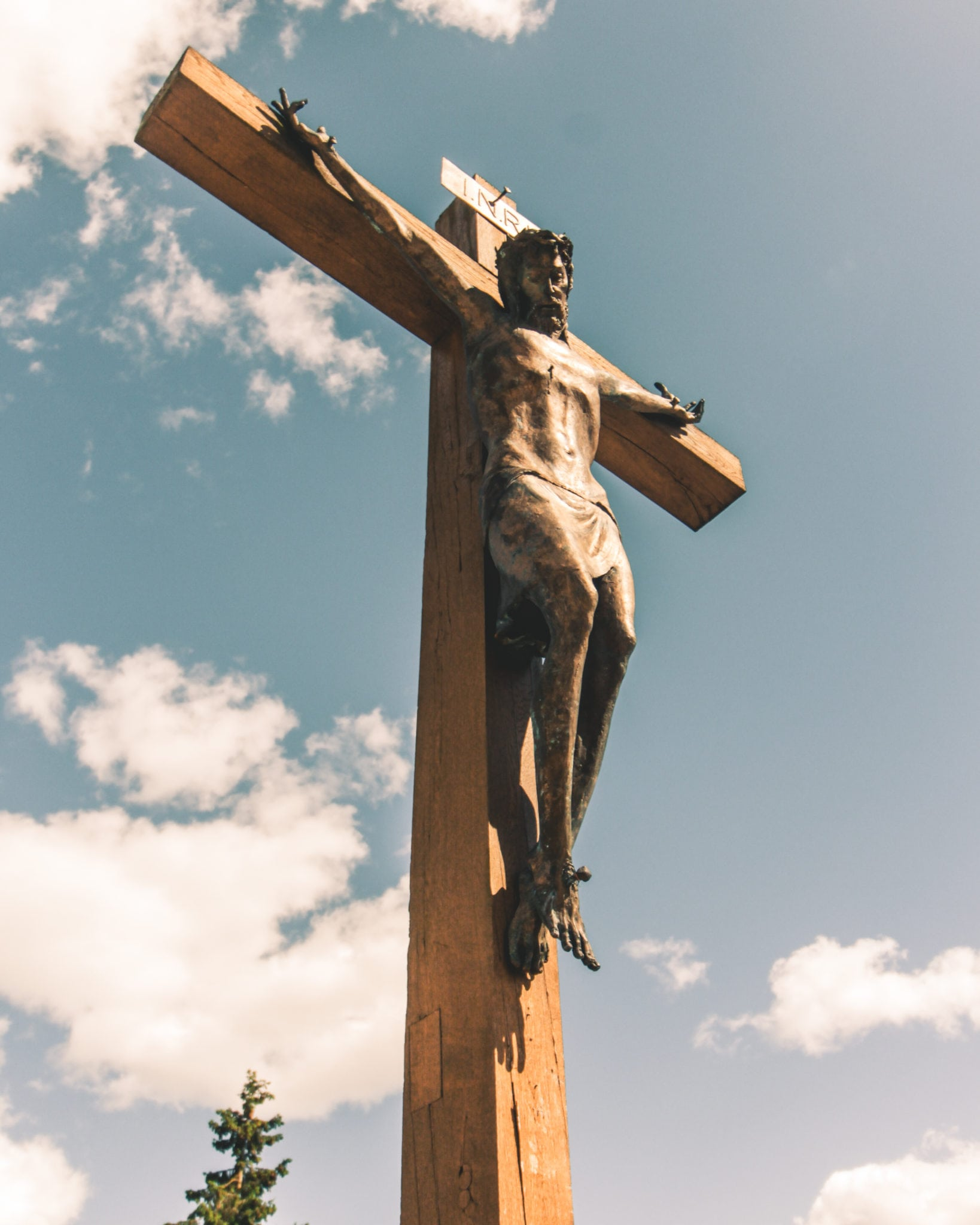Jesus on hill of crosses