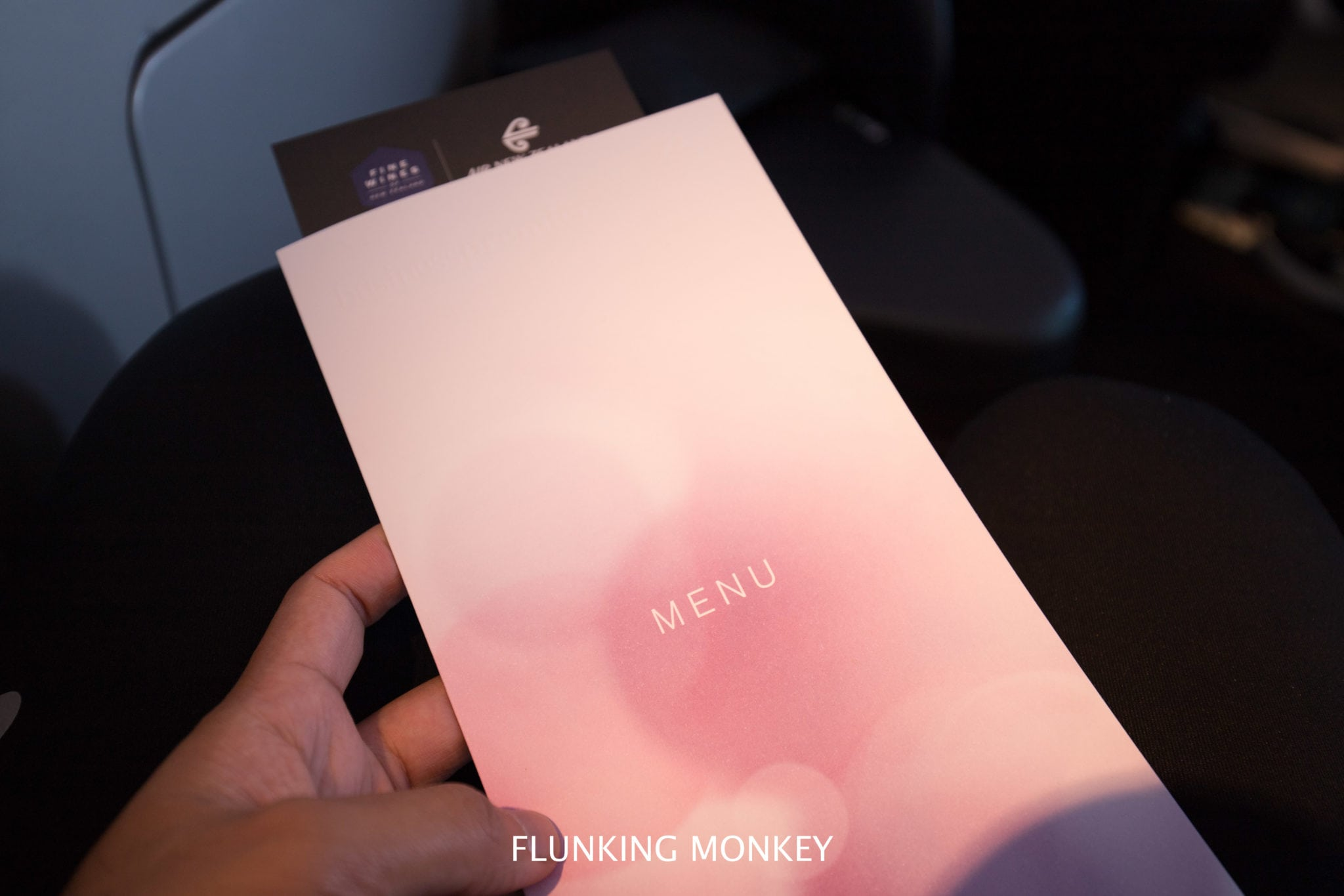 Air New Zealand - Flying With Airline Of The Year 2018 - Business Class Menu - Flunking Monkey