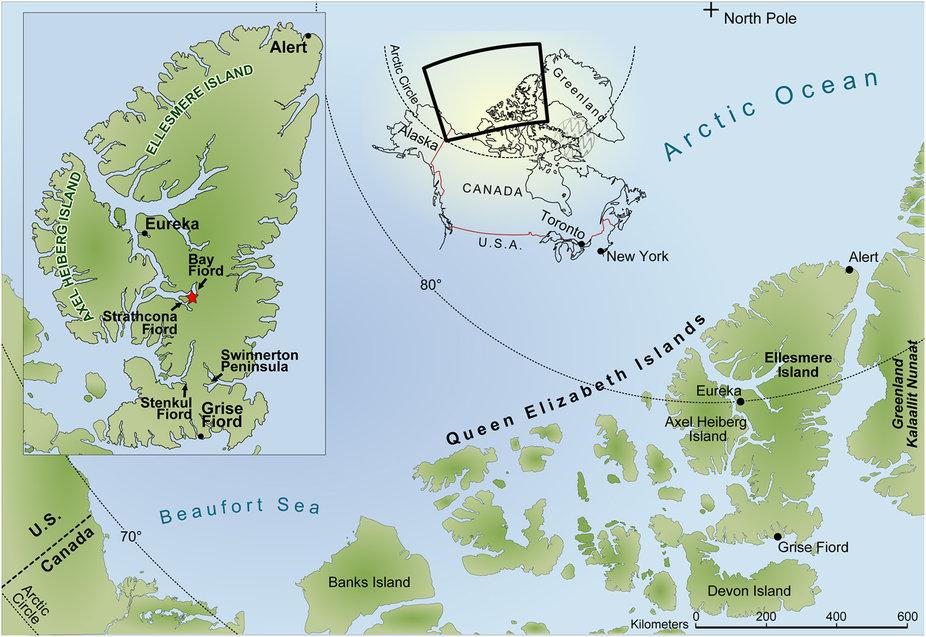 Ellesmere Island Map